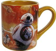 Star Wars Silver Buffalo SE0732 Disney Star Wars Ep7 BB-8 Orange Ceramic Mug, 14 oz, Multicolor
