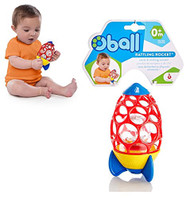 Rattling Rocket Baby Toy by OBALL - This Cute Little Rocket is the Perfect Toy for Your Infant!