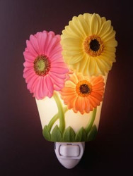 Gerber Daisy Night Light - Ibis & Orchid Flowers of Light Collection