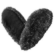 Fuzzy Footies Womens Slip Resistant Slippers (Black)