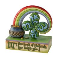 Enesco Jim Shore Heartwood Creek Four Leaf Clover Good Luck Figurine, 3.5-Inch