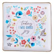 Christian Art Gifts Choose Joy Ceramic Trinket Tray, Choose Joy Collection