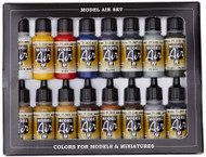 Vallejo WWII Allied Model Air Paint, 17ml (Pack of 16)