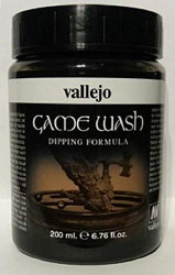 Vallejo Black Wash 200ml Paint