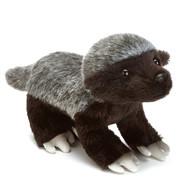 DEMDACO White Back Honey Badger Children's Plush Beanbag Stuffed Animal Toy