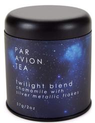 Par Avion Tea , Glitter Tea - Twilight Blend - Small Batch Loose Leaf Chamomile Tea With Edible Silver Metallic Flakes - 2 oz