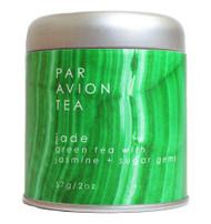 Par Avion Tea , Magic Crystal Tea - Jade Blend - Small Batch Loose Leaf Green Tea With Jasmine and Sugar Gems - 2 oz