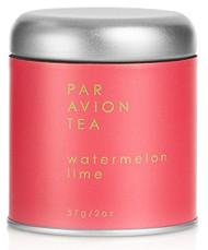 Par Avion Tea Watermelon Lime - Organic Green Tea Blended With Sweet Watermelon and Peppery Basil - Small Batch Loose Leaf Tea in Artisan Tin - 2 oz
