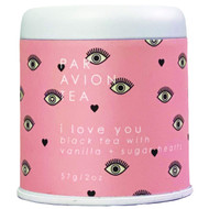 Par Avion Tea , I Love You Tea - Black tea with vanilla + sugar hearts - 2 oz