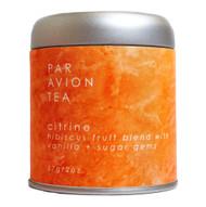 Par Avion Tea , Magic Crystal Tea - Citrine Blend - Small Batch Loose Leaf Hibiscus Fruit Blend With Vanilla and Sugar Gems - 2 oz