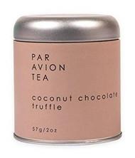 Par Avion Tea Coconut Chocolate Truffle - Black Tea Blend With Cocoa Beans and Toasted Coconut - Small Batch Loose Leaf Tea in Artisan Tin - 2 oz
