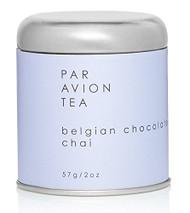 Par Avion Tea Belgian Chocolate Chai Tea - Small Batch Loose Leaf Black Tea in Artisan Tin - 2 oz