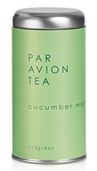 Par Avion Tea Cucumber Mojito - Organic Green Tea Blended With Peppermint, Cucumber and Lime - Small Batch Loose Leaf Tea in Artisan Tin - 4 oz