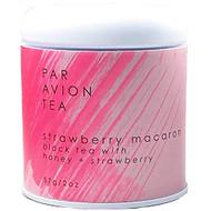 Par Avion Tea Macaron Collection Strawberry Macaron - Small Batch Loose Leaf Tea in Artisan Tin - 2oz