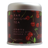 Par Avion Tea, Cherry - Small Batch Loose Leaf Hibiscus With Banana + Cherry - 2 oz