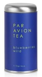 Par Avion Tea Blueberries Wild - Organic Blueberry Green Tea - Small Batch Loose Leaf Tea in Artisan Tin - 4 oz