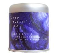 Par Avion Tea , Magic Crystal Tea - Lapis Lazuli Blend - Small Batch Loose Leaf Rooibos Blend With Blueberries and Sugar Gems - 2 oz