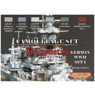 LifeColor Paint Sets German WWII Kriegsmarine #1 (22ml x 6 Bottles)
