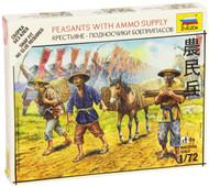 Zvezda Models Peasants with Ammo Supply SnapKit