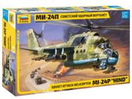 Zvezda 7315 Soviet Attack Helicopter MI-24P HIND Plastic Model Kit Scale 1/72