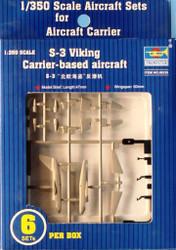 Trumpeter 1:350 S-3 Viking Carrier Based Aircraft 6pcs per Box Detail Set #06226
