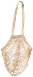 Eco-Bags Products String Bag Long Handle Natural Organic Cotton