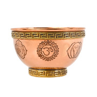 7 Chakras Copper Offering Bowl for Altar Use, Rituals, Incense, Smudging, and Decoration 3 Inches