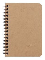 Clairefontaine Basic Wirebound Notebook - Ruled 50 sheets - 3 1/2 x 5 1/2 - Tan