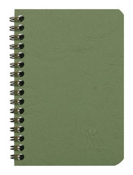 Clairefontaine Basic Wirebound Notebook - Ruled 50 sheets - 3 1/2 x 5 1/2 - Green