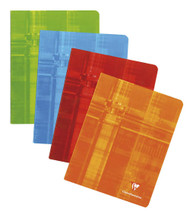 Clairefontaine Staplebound Notebook - Ruled w/ margin 48 sheets - 6 1/2 x 8 1/4 - Assorted Colors