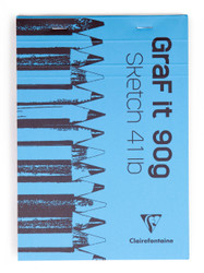 Clairefontaine GraF it Sketch Pads - Blank 80 sheets - 6 x 8 - Blue