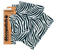 Decopatch Papers - Pack of 3 sheets - 11 3/4 x 15 3/4 - Zebra