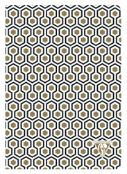 Clairefontaine Neo Deco Sewn Spine Notebook - Ivory Paper - Lined 48 Sheets - 6 x 8 1/4 - Honeycomb