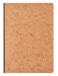 Clairefontaine Clothbound Notebook w/ elastic closure  - Ruled 96 sheets - 6 x 8 1/4 - Tan