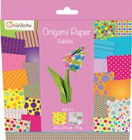 Avenue Mandarine Origami Paper - w 8 1/5  x h 9 1/4 - Bubbles