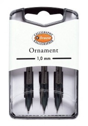Brause Ornament Calligraphy Nibs - Box of 3 nibs - 1 mm