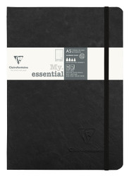 """Clairefontaine """"My Essential"""" Bound Paginated Notebook - 96 Dots Sheets - 6 x 8 1/4 - Black"""