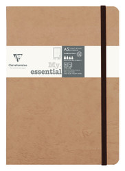 """Clairefontaine """"My Essential"""" Bound Paginated Notebook - Dot 96 sheets - 6 x 8 1/4 - Tan"""