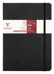"""Clairefontaine """"My Essential"""" Bound Paginated Notebook - 96 Ruled Sheets - 6 x 8 1/4 - Black"""