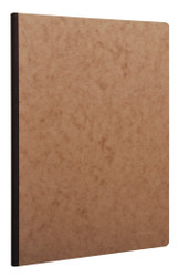 Clairefontaine Clothbound Notebook w/ elastic closure - Ruled  96 sheets - 8 1/4 x 11 3/4 - Tan