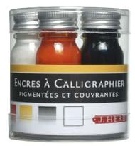 Herbin Calligraphy Inks - Sampling of five 10ml Bottle