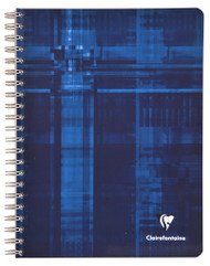 Clairefontaine Wirebound Notebook - Graph w/4 tabs 112 sheets - 8 1/4 x 11 3/4