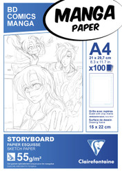 Clairefontaine Manga Drawing Paper - Storyboard Pads - 8 x 12