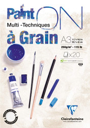 Clairefontaine Paint'On  Grain -  Sheets - 12 x 17 A3
