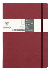 """Clairefontaine """"My Essential"""" Bound Paginated Notebook - 96 Dots Sheets - 6 x 8 1/4 - Red"""