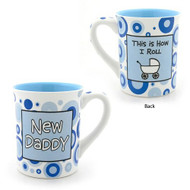 Enesco 4029366 Our Name Is Mud by Lorrie Veasey New Daddy Mug, 4-1/2-Inch