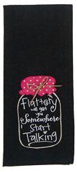 Kay Dee Designs F0740 Flattery Mason Jar Embroidered Tea Towel