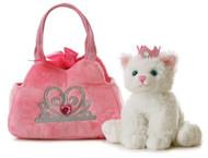 Aurora World Fancy Pals Plush Princess Kitten Purse Pet Carrier