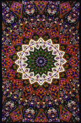 Sunshine Joy Indian Dark Star Elephant Tapestry - 30x45 Inches