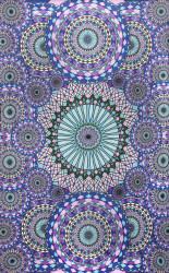Sunshine Joy 3D Geometric Rings Tapestry Tablecloth Beach Sheet 60x90 Inches ...